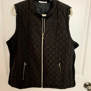 Kim Rogers black quilted vest Women's 1X